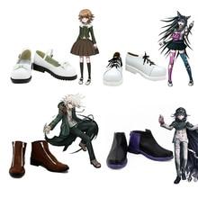 Cosplay Shoes Junko-Boots Enoshima Girl Women Danganronpa Mioda Nagito Komaeda