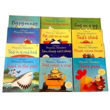 Jeu de 12 livres/ensemble de lecture d'images en anglais, lecture de phoniques, jouets éducatifs pour enfants, livre d'images Montessori