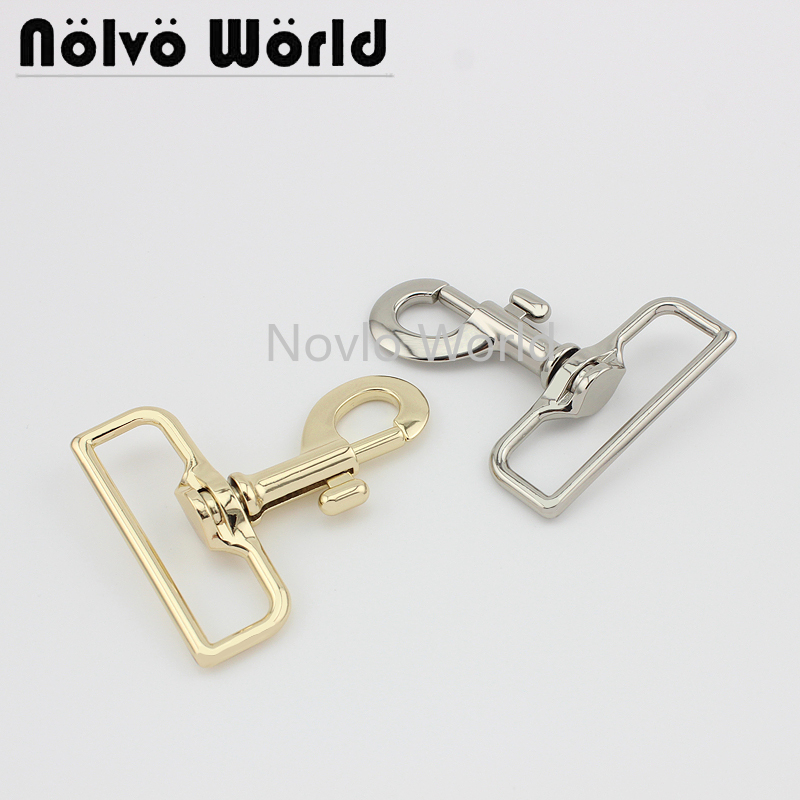 Wholesale 500pcs,2 Colors Accept Mix Color,70.5*51.5mm 2 Inch, Metal Snap Hook Handbag Lobster Buckle Swivel Clasp Hook Hardware