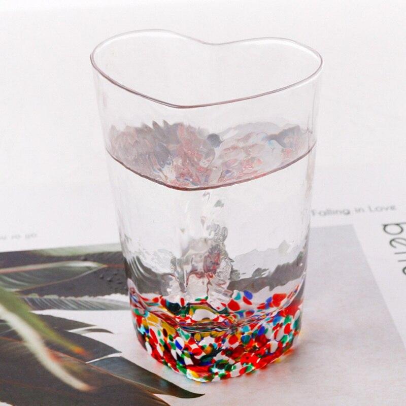 Transparante Koffie Cup Voor Drinken Beest Geschenken Muur Transparant Glas Thee Cup Hartvormige Voor Vriendin Kantoor Home Decor - 3