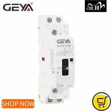 Manual Contactor GEYA Din 2P 20A 2NO 220V 2NC 16A 25A Rail-Type Home-Use 50/60hz