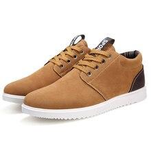 Зимняя мужская коричневая Повседневная замшевая обувь в английском