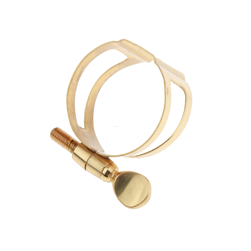 Alto Saxophone Mouthpiece Ligature Golden For Saxophonist Beginners
