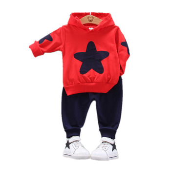 2018 new spring children girls clothing sets mouse early autumn clothes bow tops t shirt leggings pants baby kids 2 pcs suit New Children Spring Autumn Fashion Clothes Suit Baby Boys Girls Pentagram Hooded T Shirt Pants 2pcs/sets Kids Infant Sportswear
