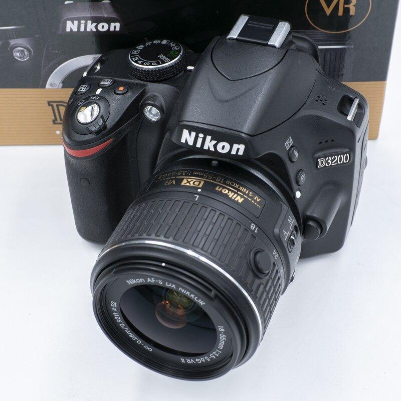 Nikon-cámara D3200 DSLR con lente de 18-55mm