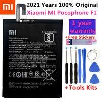 Batteria di Ricambio originale BM4E Per Xiaomi MI Pocophone F1 batteria Autentico Batteria Del Telefono 4000mAh + Kit di Strumenti + Adesivi