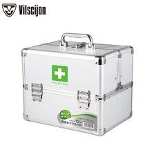 Family Medicine Box Multi-layer Outpatient Household Child Size Emergency Storage Vilscijon 3353