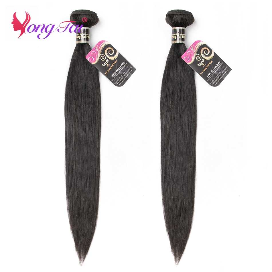 """Yuyongtai Brazilian Non-Remy Human hair  straight hair bundle Natural black 8""""-30""""inches  weave bundles Extension can be permed"""