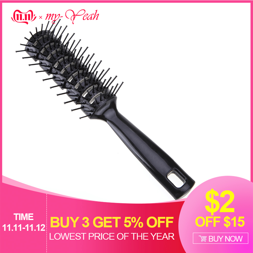 Pro Hairdressing Hair Salon Barber Anti-static Heat Comb Hair Wig Styling Tool Comb Brush Healthy Massage Reduce Hair Loss Tools