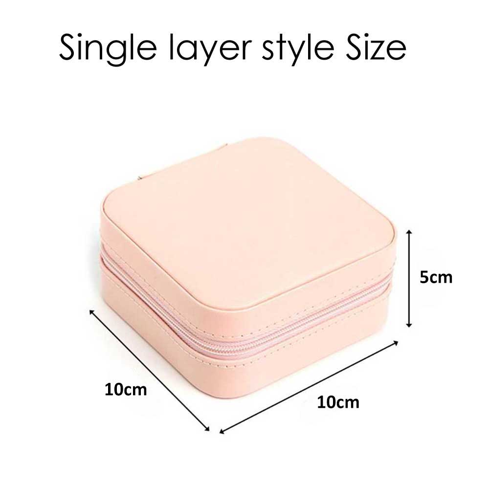 CellDeal Jewelry Box Travel Comestic Jewelry Casket PU Leather Storage Box Ring Lady Case Portable Jewelry Organizer Necklaces 6
