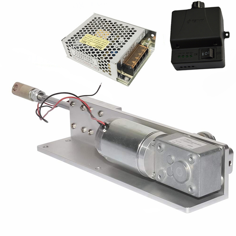 DC 12 24V Linear Actuator Reciprocating Motor FF50 Set DIY Design Stroke 30/50/<font><b>70mm</b></font>+Switching Power Supply+ <font><b>PWM</b></font> Speed Controller image