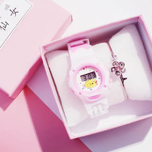 Kids Clock Children's Watch Girl Silicone Electronic Sports Waterproof Creative Boy Hot-Sale