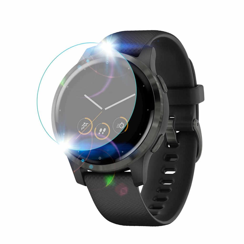 3 Pcs Full Cover Film Pelindung Layar Anti Gores untuk Garmin Vivoactive 4S SMART Watch Clear Cover Pelindung Layar 19Nov08