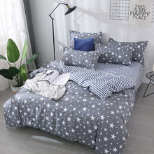 Star 4pcs Girl Boy Kid Bed Cover Set Cartoon Duvet Cover Adult Child Bed Sheets And Pillowcases Comforter Bedding Set 2TJ-61003(China)