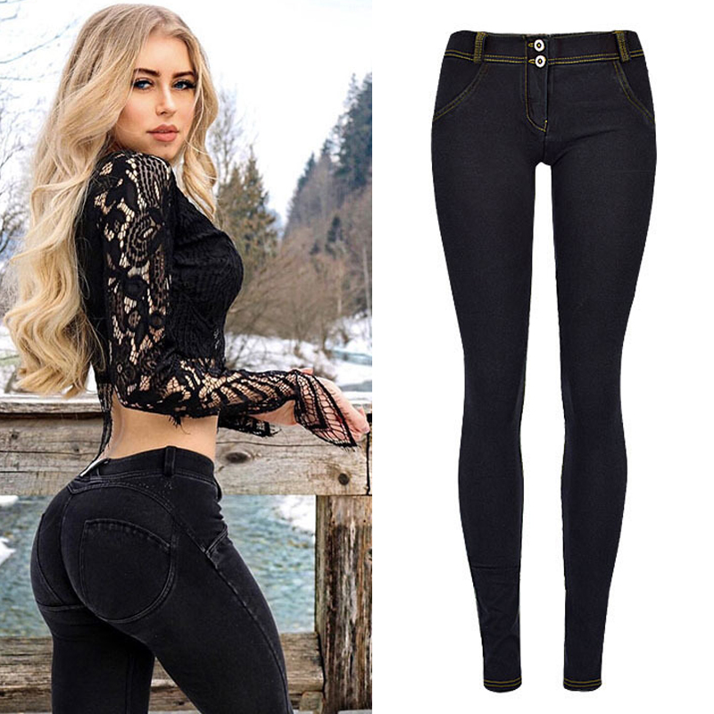 Stretch Butt Lift Jeans Low Waist Women Pull On Pants Buttock Fitness Legging Push Up Female Denim Trousers Jeggings Plus Size
