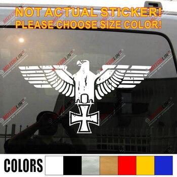 Bundesadler Reichsadler Eagle Iron Cross Decal Sticker WW2 German Army distressed