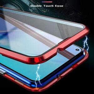 Image 3 - יוקרה מגנטי ספיגת מתכת Flip Huawei Honor 20 20i 20Pro לייט טלפון כיסוי כפול צדדי זכוכית Honor20 פרו אני 2019