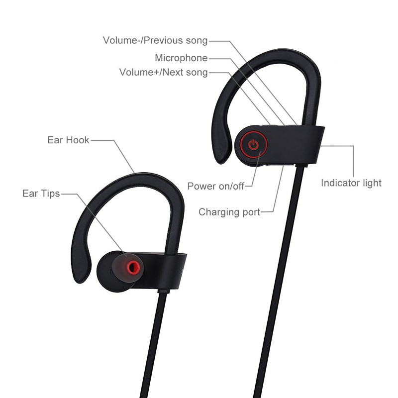 Bluetooth Headphone For iPhone 11 Pro Max XR X 8 7 6 Stereo Fitness Sport Wireless Earphone For Samsung Note 10 10+ S10 Headset
