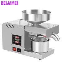 BEIJAMEI New Household Oil presser 220V/110V Electric Oil press machine Peanut oil maker use for Sesame Almond Walnut|Oil Pressers|   -