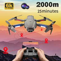 2021 nuovo F9 GPS Drone 6K doppia videocamera HD fotografia aerea professionale motore Brushless quadricottero pieghevole distanza RC 2000M