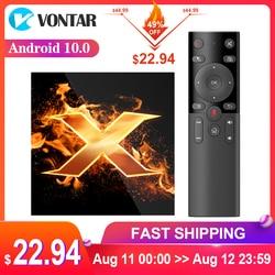 2020 VONTAR X1 Smart TV Box Android 10 4GB RAM 64GB 4K 1080p 2,4G & 5G Wifi BT 5,0 Google Stimme Assistent Youtube TVBOX Set Top Box