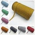 5 ярдов/лот 6 мм металлический Цвет штаны с эластичным поясом-резинкой швейная Эластичная лента Fiat резинкой на талии эластичная веревка штан...