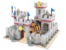 Anime Castle Medieval Knight Gate Models Children DIY Plastic Blocks Building Construction Toys Guard Figures Souptoys Blocks(China)