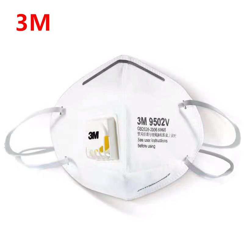 3M Masks 9502V/9501v+ 3Pcs PM2.5 Ear Band Particulate Respirator Dust Mask With Cool Flow Valve Breathable Mask