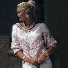 Moda rosa listrado plush suéteres feminino 2020 outono inverno roupas grossas blusas de grandes dimensões pulôveres de malha senhoras