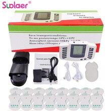 新ロシアまたは英語ボタン電気刺激装置フルボディは、マッスルセラピーマッサージ十鍼パルス + 16 パッド + ボックス