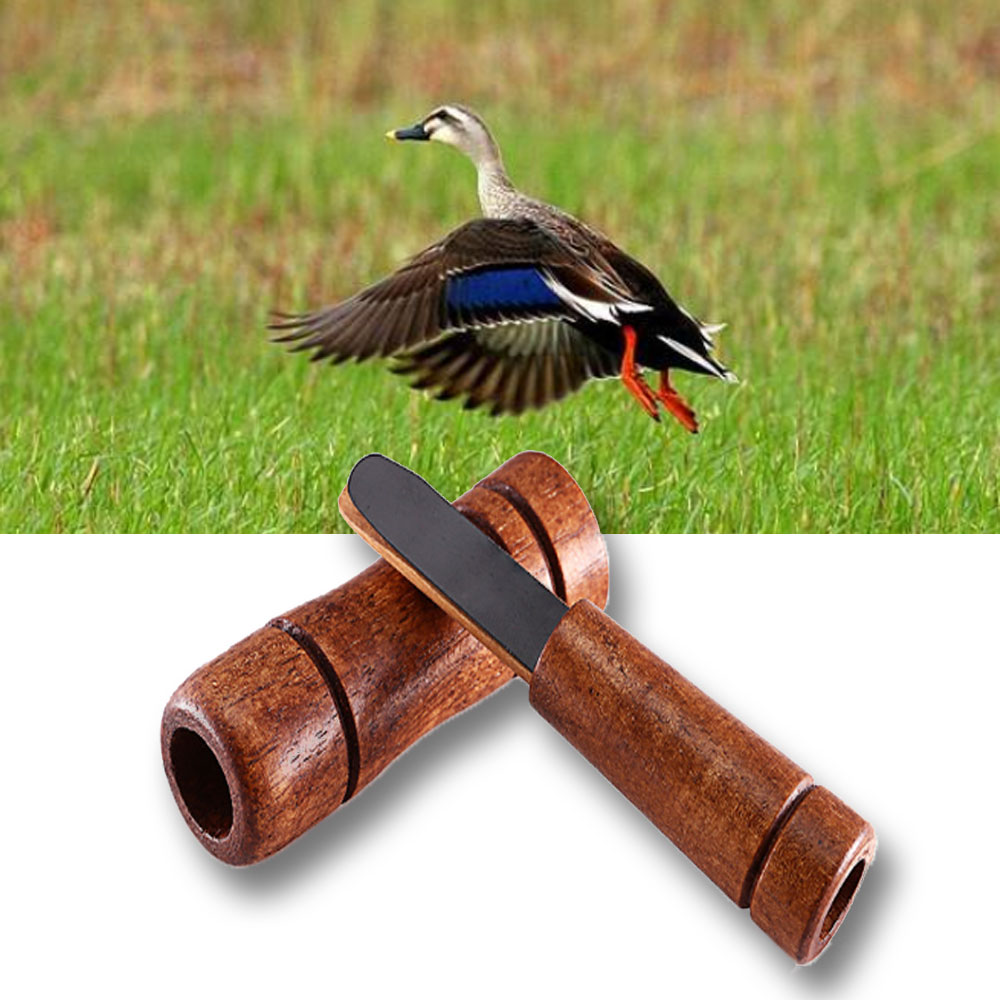 Outdoor Hunting Whistle Wooden Imitate Duck Pheasant Mallard Wild Bird Goose Caller Voice Decoy Trap Hunting Accessioes