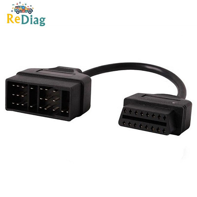 10pcs/lot Diagnostic Connector 22 Pin to 16 Pin For <font><b>Toyota</b></font> <font><b>22PIN</b></font> OBDII Cable Adapter Transfer For <font><b>Toyota</b></font> <font><b>22Pin</b></font> to OBD2 16Pin image