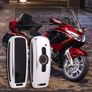 Чехол для ключей от мотоцикла из алюминиевого сплава для Honda GL1800, защита золотого крыла, золотого крыла с ЧПУ, 2018, 2019, 2020