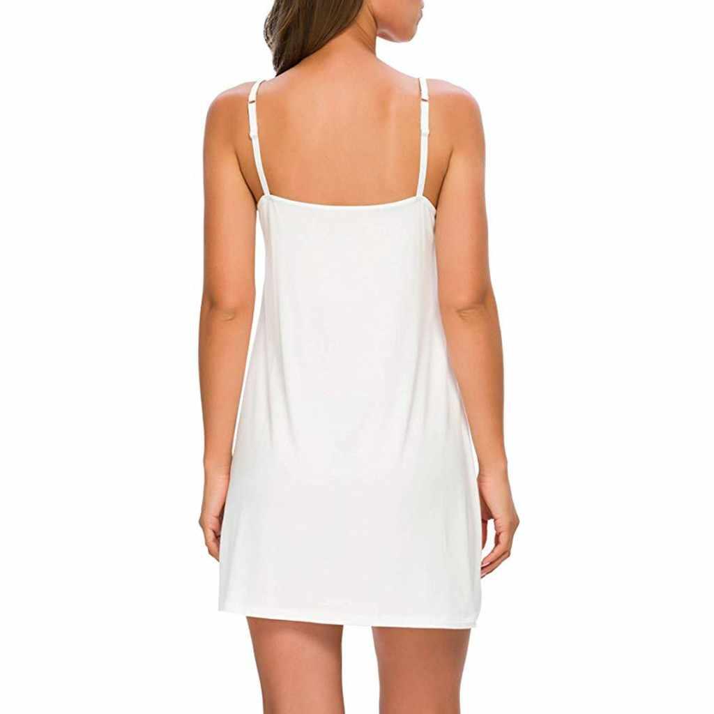 Jubah Femme Pakaian Pesta Gaun Wanita Basic Atasan Kasual Warna Solid Spaghetti Strap Di Bawah Mini Gaun Club Tahap Gaun #151217