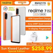 Realme 7 Pro Special Edition Sonne Kissed Leder 8GB RAM 128GB ROM 65W SuperDart Ladung AMOLED In-display Fingerprint UK Ladegerät