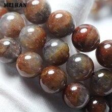 Großhandel (1 armband) 13 14mm echtes Auralite 23 quarz glatte runde lose perlen für Weihnachten geschenk schmuck machen