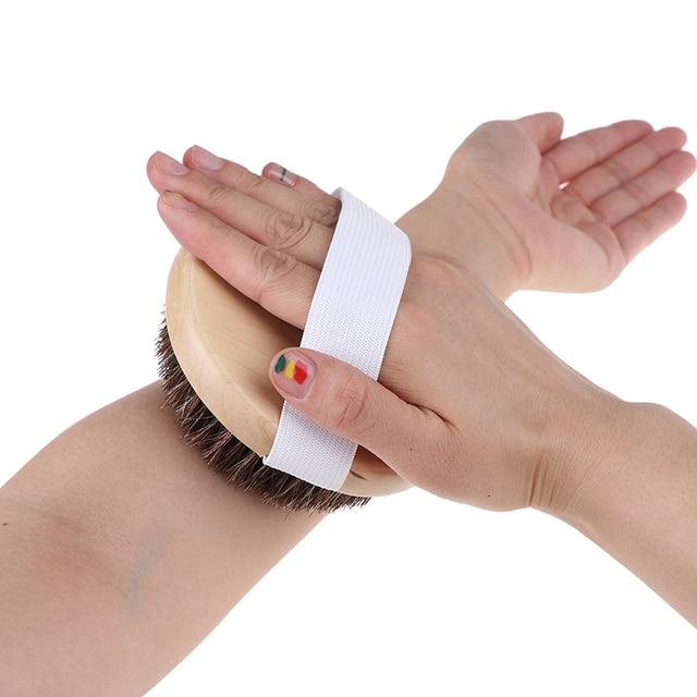 1PCS Body Massage Brush Cellulite Shower Exfoliation Hot Wood Natural Horse Hair Bath Body Brush Dry Skin Brushing 3