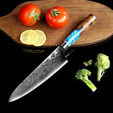 8 Inch Chef Knife Kitchen Knives-Set Japaneses Damascus Steel VG10 Meat Knife Razor sharp Boning Knife Color Wood Handle Tool