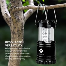 Effective 1 Pack Portable Camping Lantern LED with 12 AA Batteries Survival Kit for Emergency Hurricane Power Outage CL10 lamps