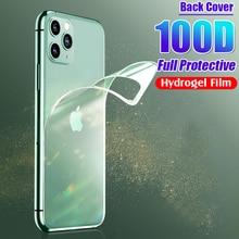100D задняя защитная Гидрогелевая пленка для IPhone 11 Pro 6 6s 8 7 Plus XR X XS Max полная защита экрана мягкая пленка не стекло