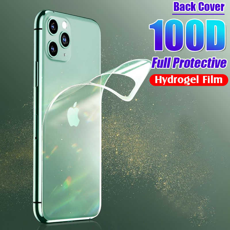 100D Back Protective Hydrogel Film Cover For IPhone 11 Pro 6 6s 8 7 Plus XR X XS Max Full Screen Protector Soft Film Not Glass