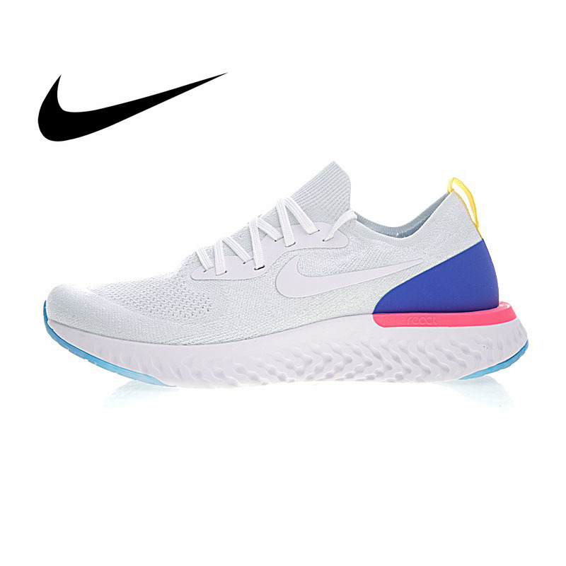 Original Nike Epic React Flyknit Men's Running Shoes Comfortable Mesh Breathable Wear Resistant Sport Outdoor Sneakers AQ0067