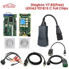 Lexia 3 PP2000 полный чип Diagbox V7.83 с прошивкой 921815C Lexia3 V48/V25 для Citroen для Pe-ugeot OBDII диагностический инструмент