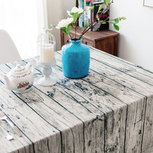 Simanfei Table Cloth Nordic New Cotton and Linen Literary Fashion Plaid Flow Pattern Modern Rectangular Hot Sale