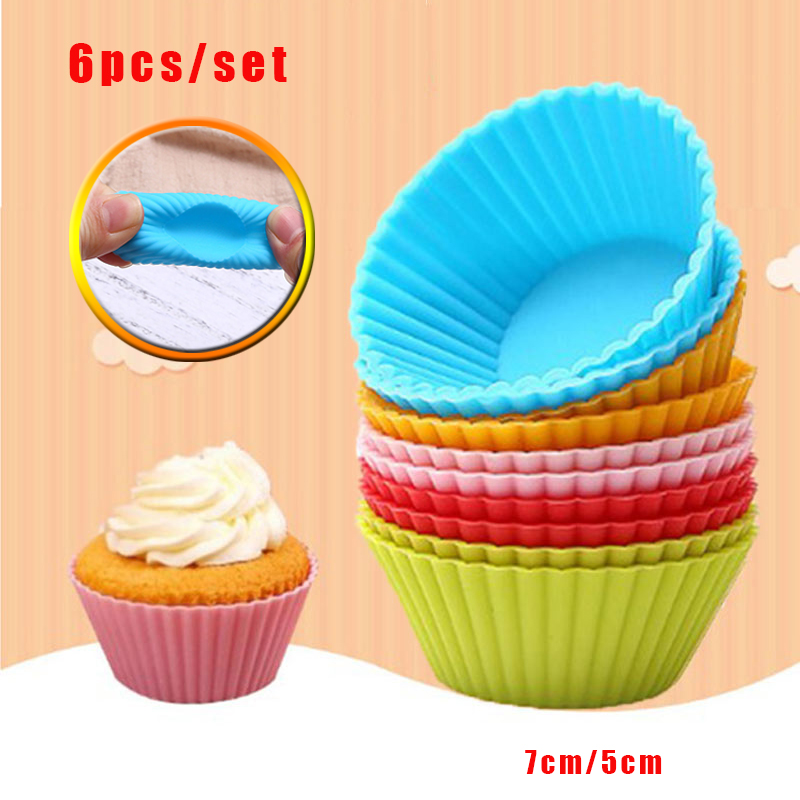 Silicone Cupcake Liners Kitchen Baking Cups Cupcake Liners Muffin Cake Molds