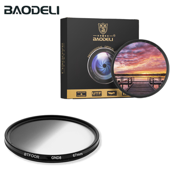 BAODELI Gradient Gnd Filter 49 52 55 58 67 72 77 82 Mm For Camera Canon Lens M50 600d Nikon D3200 D3500 D5100 D5600 Sony A6000 nisi square filter digital compact system camera 70x100mm soft gnd 0 9 square gradient micro camera grey filter