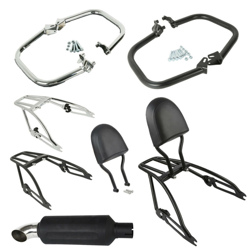 Motorcycle Engine Guards Exhaust Pipe Luggage Rack For Harley Street XG500/750 2015-2019 2015-UP