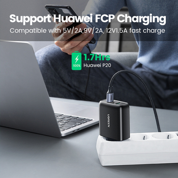 Ugreen зарядное устройство Quick Charge 3,0 36W 3