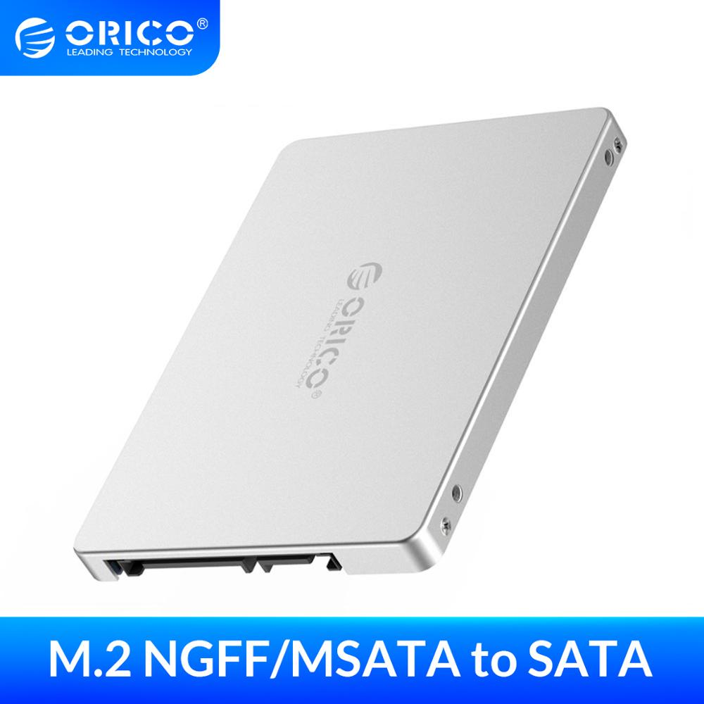 ORICO Dual M 2 NGFF MSATA to SATA 3 0 SSD To 2 5 Inch Convertor Adapter Card Support SSD Type 2230 2242 2260 2280 for Samsung