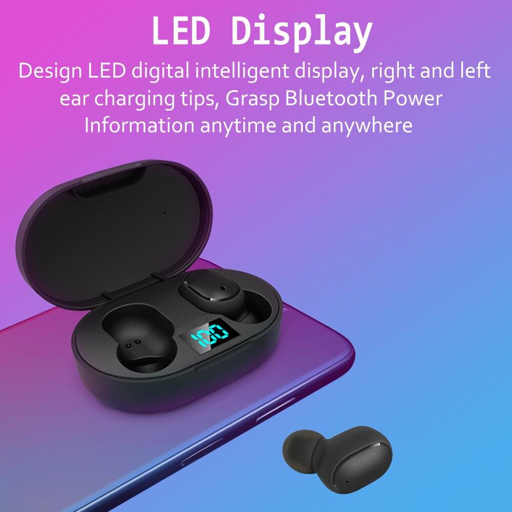 Auriculares inalámbricos TWS para Redmi Airdots auriculares pantalla LED Bluetooth V5.0 auriculares con micrófono para iPhone Huawei Samsung - 4